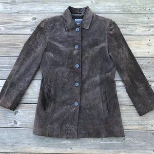 A Bernado Jacket Women Genuine Leather Brown